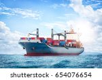 logistics and transportation of ...   Shutterstock . vector #654076654