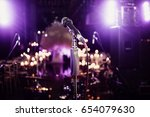 music set microphone in light... | Shutterstock . vector #654079630