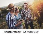 people sampling and tasting... | Shutterstock . vector #654081919