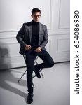 Strong stylish man in elegantly ...