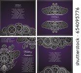 vintage floral design template. ... | Shutterstock .eps vector #654095776