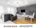 gray and white  modern... | Shutterstock . vector #654102070
