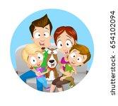 vector illustration of happy... | Shutterstock .eps vector #654102094