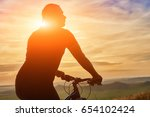 close up of silhouette of... | Shutterstock . vector #654102424