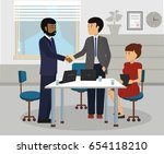 diverse business people... | Shutterstock .eps vector #654118210