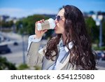 close up of wonderful woman... | Shutterstock . vector #654125080