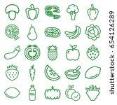 vegetarian icons set. set of 25 ... | Shutterstock .eps vector #654126289