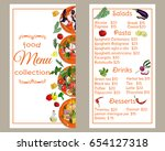 restaurant menu vertical... | Shutterstock .eps vector #654127318