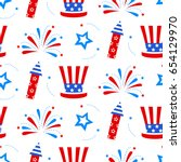 independence day of america... | Shutterstock .eps vector #654129970