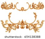gold ornament on a white...   Shutterstock . vector #654138388
