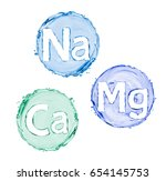 group of chemical minerals and... | Shutterstock . vector #654145753