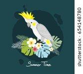 cockatoo  vector illustration | Shutterstock .eps vector #654148780