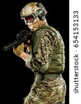 male in uniform of tactical... | Shutterstock . vector #654153133