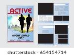 brochure layout  easy editable... | Shutterstock .eps vector #654154714