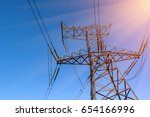 support of electro transmission ... | Shutterstock . vector #654166996