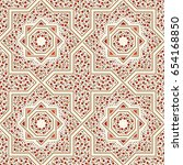 patterned floor tile. moroccan... | Shutterstock .eps vector #654168850
