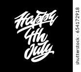 happy 4th july. premium... | Shutterstock .eps vector #654172918