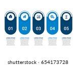 modern infographic startup... | Shutterstock .eps vector #654173728