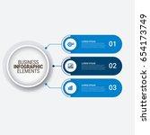 modern infographic startup... | Shutterstock .eps vector #654173749