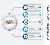 modern infographic startup...   Shutterstock .eps vector #654173953