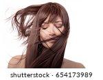 brunette beauty model with...   Shutterstock . vector #654173989