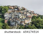 view from cosme velho to favela ... | Shutterstock . vector #654174514
