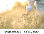 close up girl s finger touching ... | Shutterstock . vector #654175054