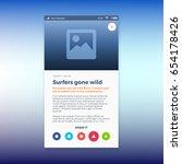 reporting news ui app design ...   Shutterstock .eps vector #654178426