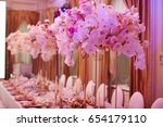 luxury decorated with flowers... | Shutterstock . vector #654179110