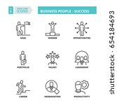 flat symbols about business... | Shutterstock .eps vector #654184693