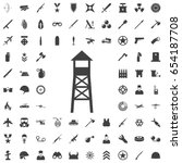 observation post icon. set of... | Shutterstock .eps vector #654187708