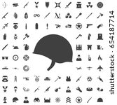 soldier helmet icon isolated on ... | Shutterstock .eps vector #654187714