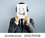 drawing facial expressions... | Shutterstock . vector #654195448