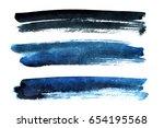 black and blue brush strokes...   Shutterstock . vector #654195568