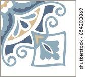 portuguese tiles pattern....   Shutterstock .eps vector #654203869