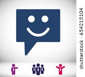 speech bubbles icon. chat... | Shutterstock .eps vector #654215104