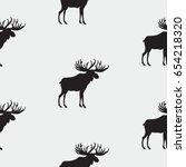 elk pattern art abstract... | Shutterstock .eps vector #654218320