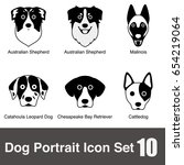 dog face character icon design... | Shutterstock .eps vector #654219064