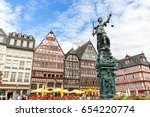 frankfurt old town with the... | Shutterstock . vector #654220774