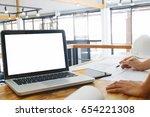 image of engineer hands... | Shutterstock . vector #654221308