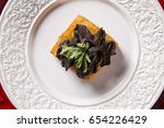 traditional fried polenta with... | Shutterstock . vector #654226429