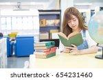 pretty high school student in... | Shutterstock . vector #654231460