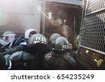 valparaiso  chile   june 01 ... | Shutterstock . vector #654235249