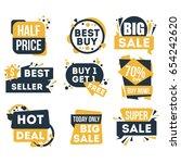 sale and discount badge set... | Shutterstock .eps vector #654242620