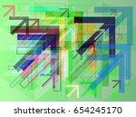arrows icon design   Shutterstock .eps vector #654245170