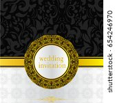 wedding invitation or card with ... | Shutterstock .eps vector #654246970