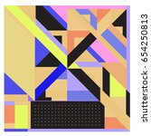 trendy geometric elements... | Shutterstock .eps vector #654250813