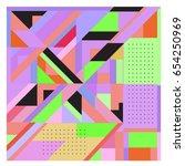 trendy geometric elements... | Shutterstock .eps vector #654250969