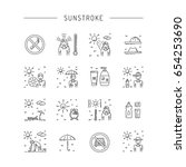 vector icons on the theme of... | Shutterstock .eps vector #654253690