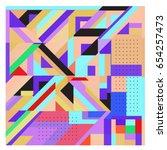 trendy geometric elements... | Shutterstock .eps vector #654257473
